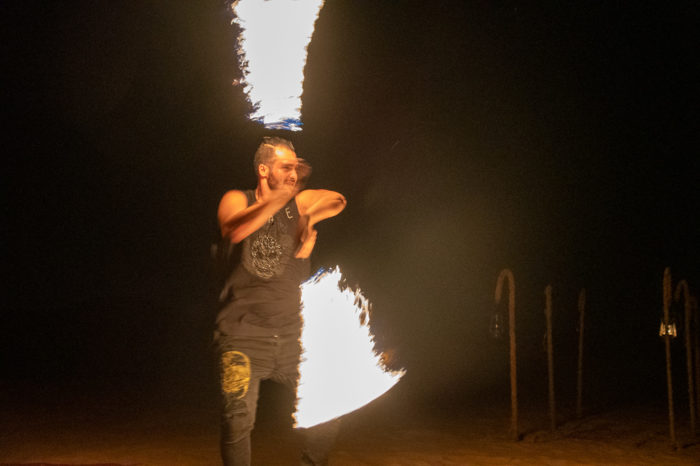 Incredible Fire Dancer