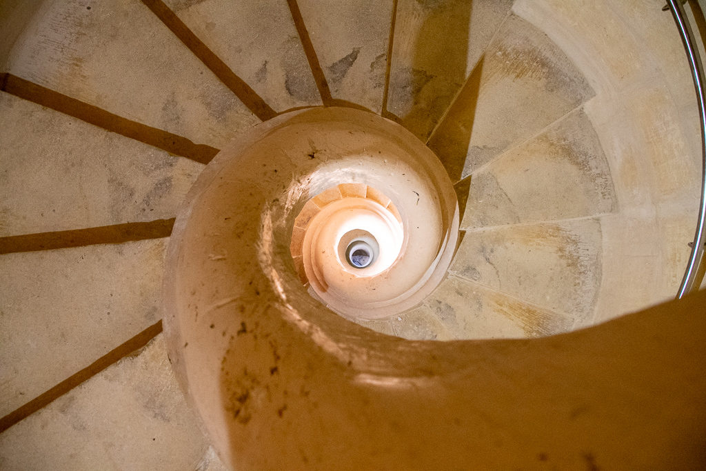 Staircase in the Rotunda of Mosta (church) Malta